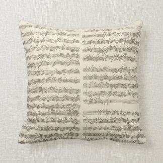 Bach Music Manuscript, 2nd Suite for Cello Solo Cushion