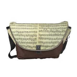 Bach Partita No. 3 for Solo Violin in Manuscript Messenger Bags