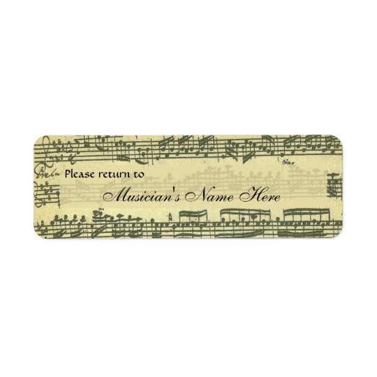 Bach Partita Property Label Return Address Label