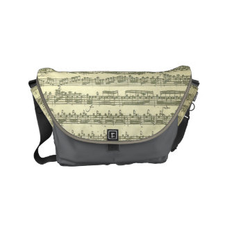 Bach Third Partita Solo Violin Music Manuscript Messenger Bags