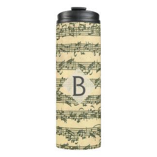 Bach Vintage Music Manuscript Custom Initial Thermal Tumbler