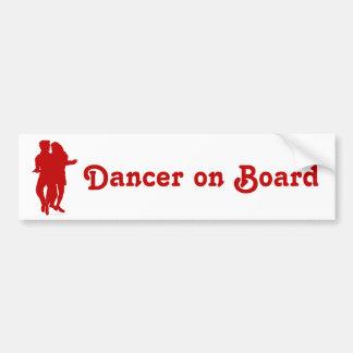 Bachata Latin Dancers Silhouette Custom Bumper Sticker
