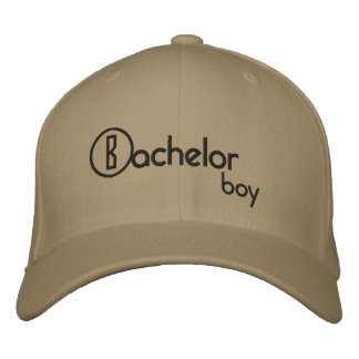 Bachelor boy embroidered hat