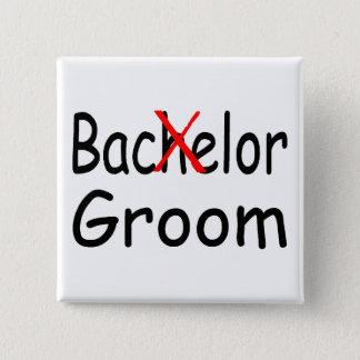Bachelor (Groom) 15 Cm Square Badge