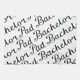 Bachelor Pad Diagonal Script Pattern B&WII Tea Towel
