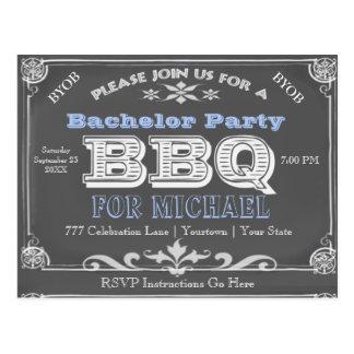 Bachelor Party | BBQ | Vintage Chalkboard Postcard
