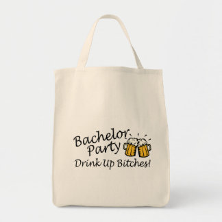 Bachelor Party Beer Jugs Grocery Tote Bag