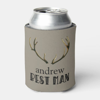 Bachelor Party Best Man Antlers Coozie Beer Can
