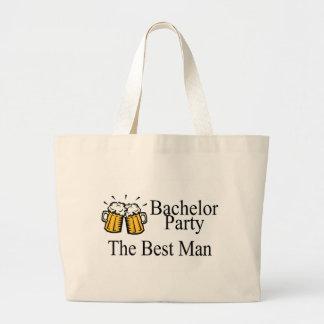 Bachelor Party Best Man Wedding Jumbo Tote Bag