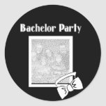 bachelor party bow tie stickers