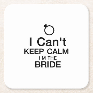 Bachelor Party Bride Team Bridesmaid wedding Square Paper Coaster