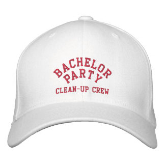 Bachelor Party, Clean-up Crew, Best Man Hat Embroidered Cap