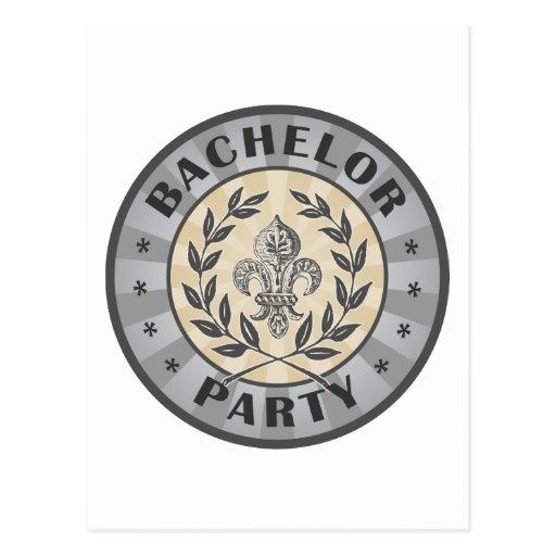Bachelor Party Crest Design Post Cards