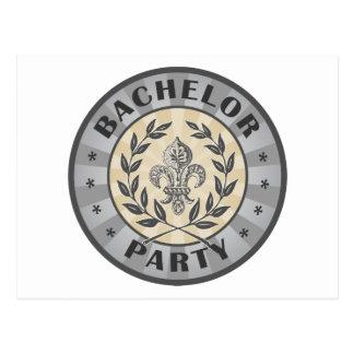 Bachelor Party Crest Design Postcards