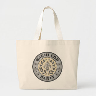 Bachelor Party Crest Design Jumbo Tote Bag