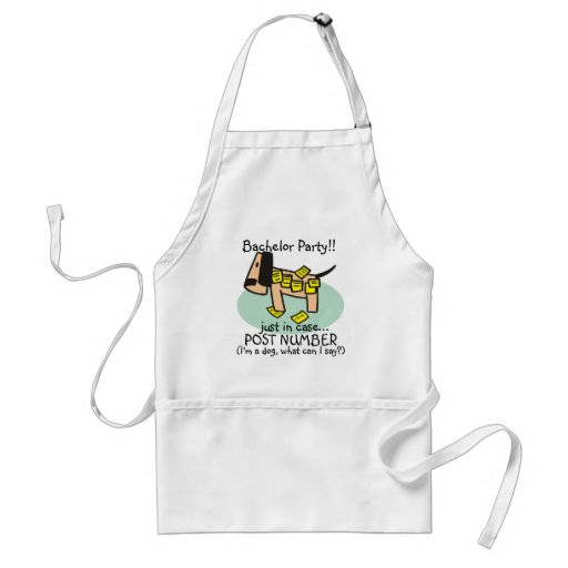 Bachelor Party Dog T-shirts and Gifts Apron
