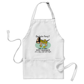 Bachelor Party Dog T-shirts and Gifts Standard Apron