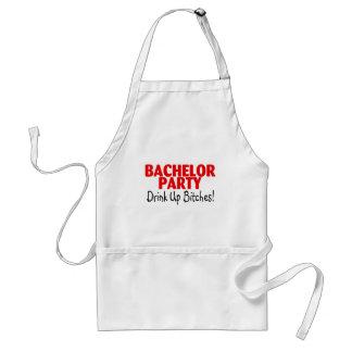 Bachelor Party Drink Up Red Black Standard Apron