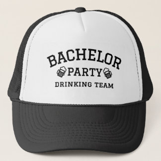Bachelor party drinking team t-shirt trucker hat