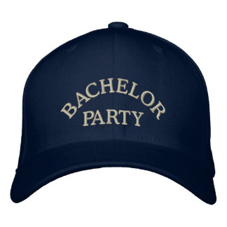Bachelor party embroidered hats