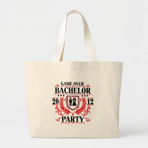 bachelor party game over 2012 canvas bags