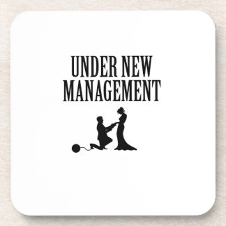 Bachelor party Groom Gift  Under New Management Coaster
