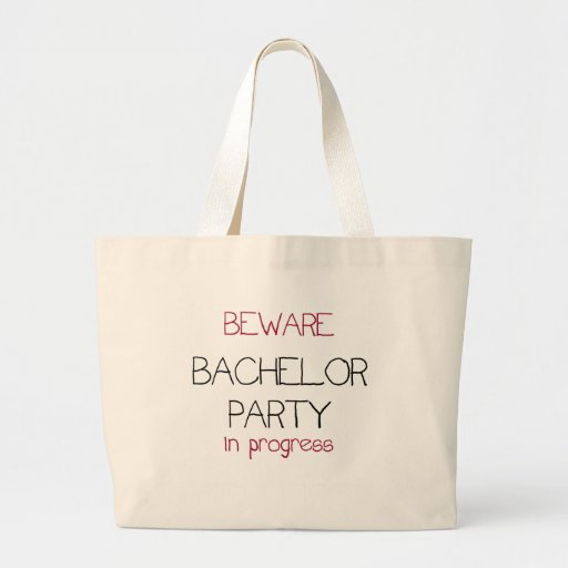 Bachelor Party in Progress Canvas Bag