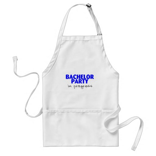 Bachelor Party In Progress (Blu) Aprons