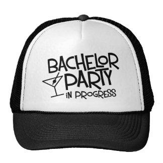 Bachelor Party in Progress Cap
