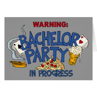 Bachelor Party invitation Stationery Note Card