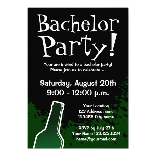 Bachelor Party Invite as luxury invitations template