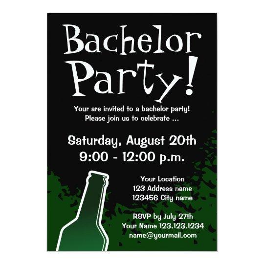 Bachelor Party Invitations Custom Invites Zazzle Com Au