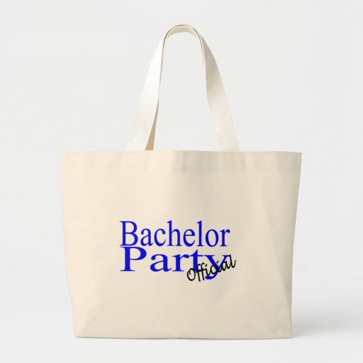 Bachelor Party Official Blue Tote Bag