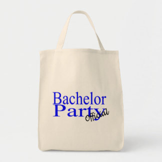 Bachelor Party Official Blue Grocery Tote Bag