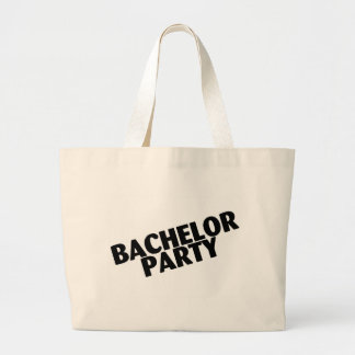 Bachelor Party (Slanted Black) Tote Bags