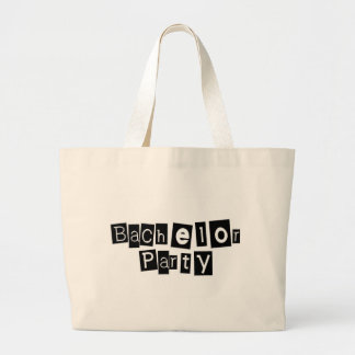Bachelor Party (Sq Blk) Canvas Bag