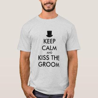 Bachelor party t shirt | KeepCalm and kiss groom