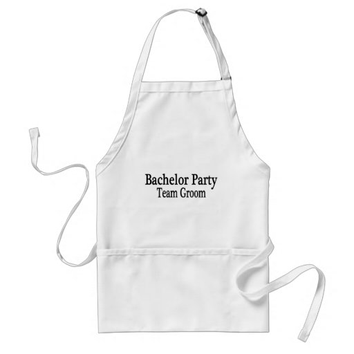 Bachelor Party Team Groom Apron