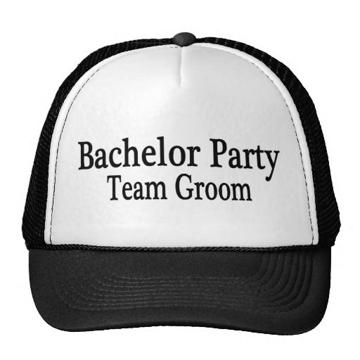 Bachelor Party Team Groom Mesh Hat