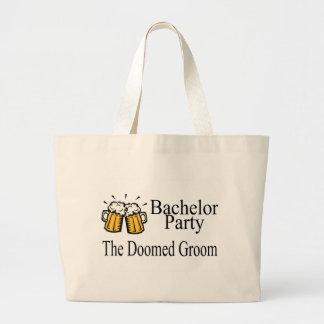 Bachelor Party The Doomed Groom Jumbo Tote Bag