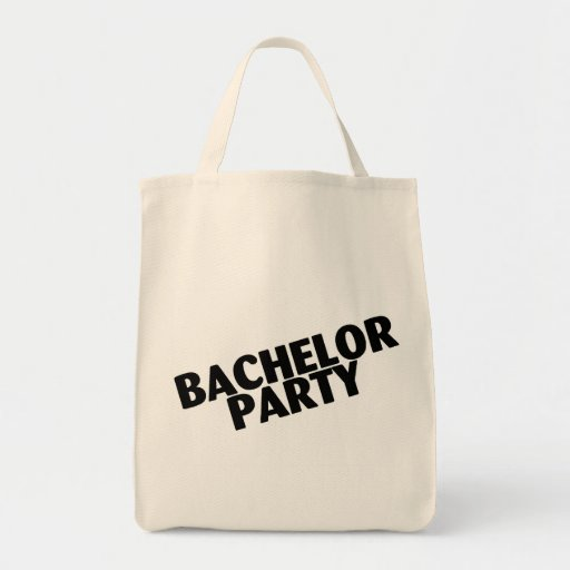 Bachelor Party Wedding Black Tote Bags