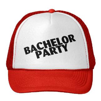 Bachelor Party Wedding Black Cap