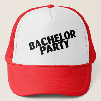 Bachelor Party Wedding Black Trucker Hat