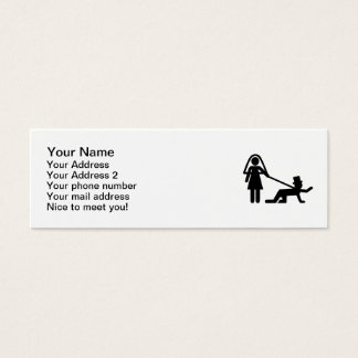 Bachelor party Wedding slave Mini Business Card