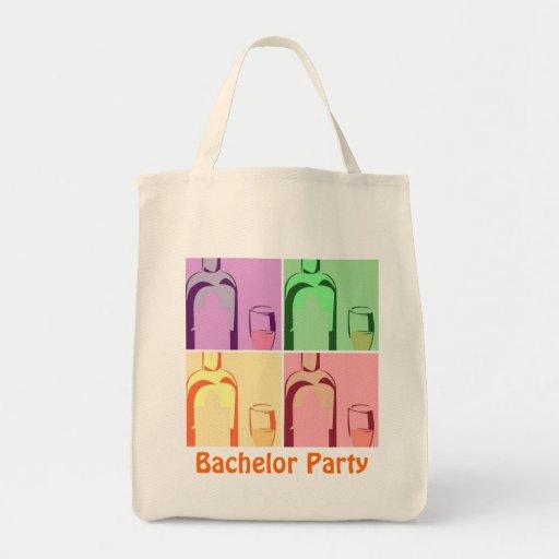 Bachelor Party Wine Canvas Bag