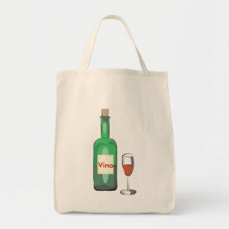 Bachelor Wine Party Grocery Tote Bag