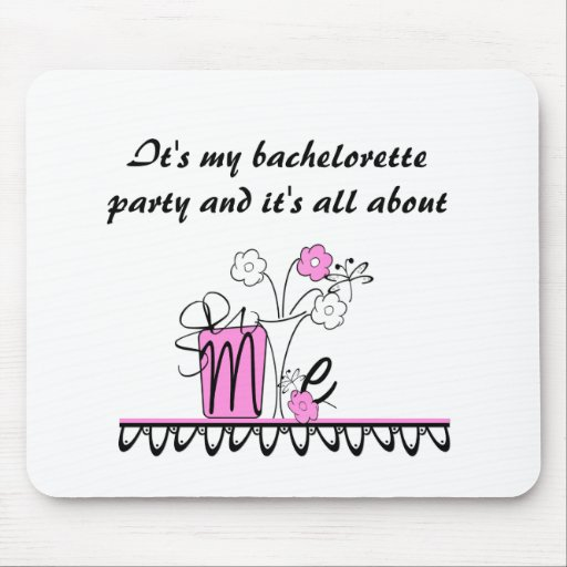 Bachelorette All About Me Mouse Mats