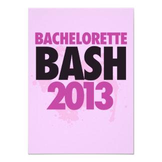 "Bachelorette Bash 2013 4.5"" X 6.25"" Invitation Card"
