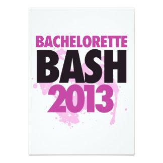 "Bachelorette Bash 2013 5"" X 7"" Invitation Card"