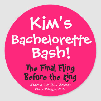 Bachelorette Bash Sticker